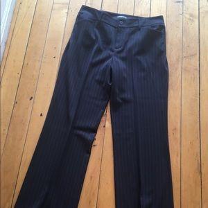 Eddie Bauer black with white pin striped pants